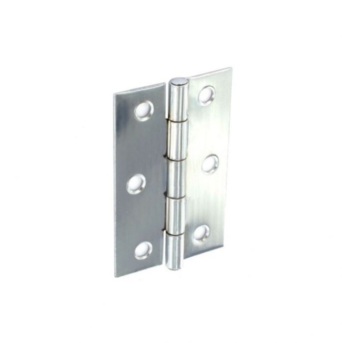 Securit Steel Butt Hinges Zinc Plated 100mm (Pair)
