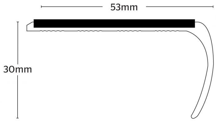 Stikatak Slimline Bull Nose Aluminium