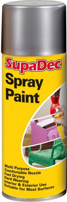 SupaDec Spray Paint 400ml Silver