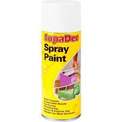 SupaDec Spray Paint 400ml Matt White