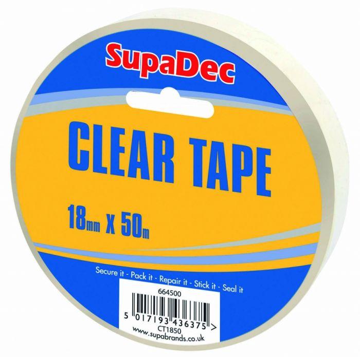 SupaDec Clear Tape 18mm x 50m