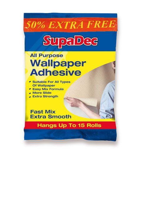 SupaDec All Purpose Wallpaper Adhesive Up to 10 Rolls PLUS 50% EXTRA FREE