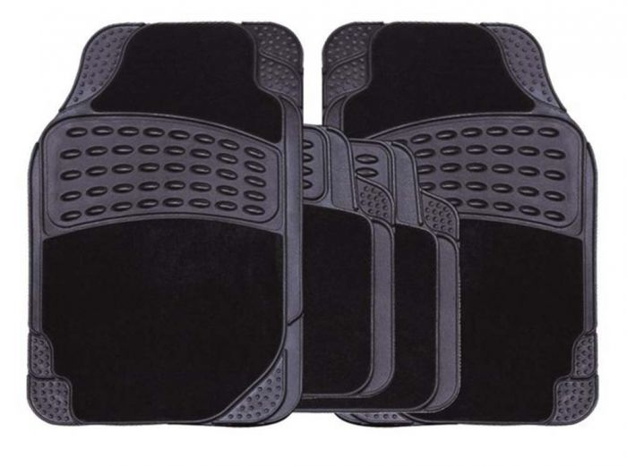 Streetwize Rubber Carpet Mat Set 4 Piece