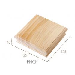 Cheshire Mouldings Flat Newel Cap Pine