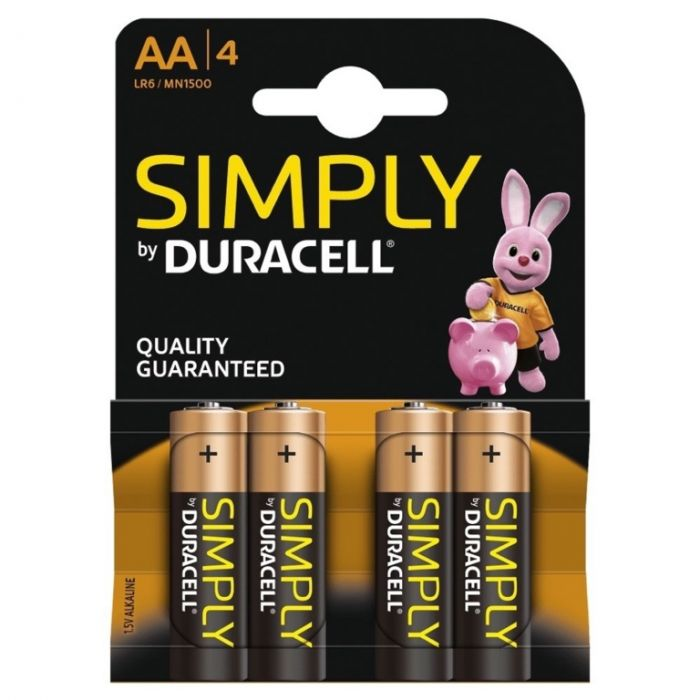 Duracell Simply Batteries Pack 4 Aa