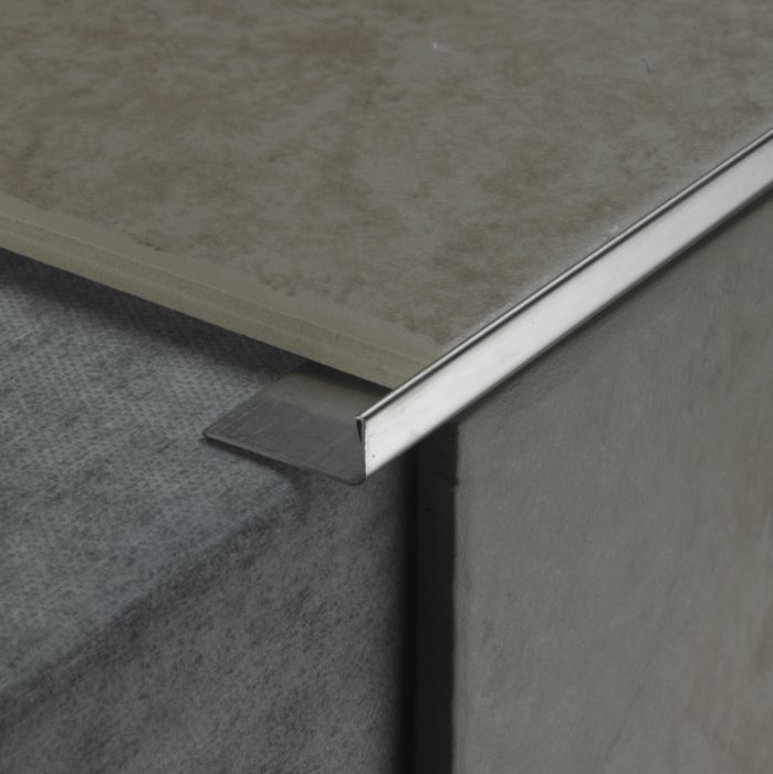Tile Rite Square Listello 10Mm Stainless Steel Effect