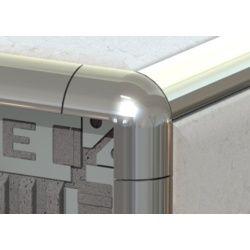 Tile Rite Metal Tile Edging Corner Silver 8Mm
