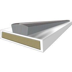 Astroflame Intumescent Seal Fire & Smoke White 15 X 4 X 2100Mm