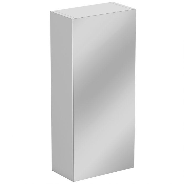 Sp Sherwood White Single Door Mirror Wall Unit 300Mm W: 300Mm H: 660Mm D: 185Mm