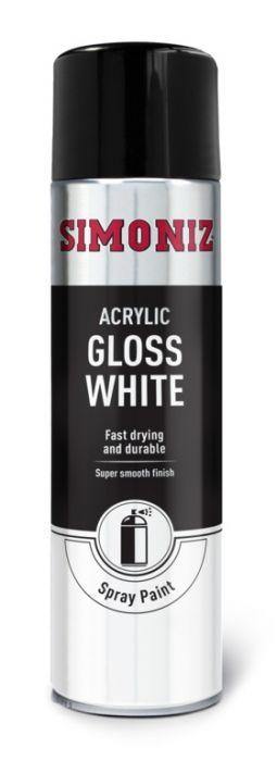 Simoniz Spray Paint - Gloss White (Aerosol) 500Ml