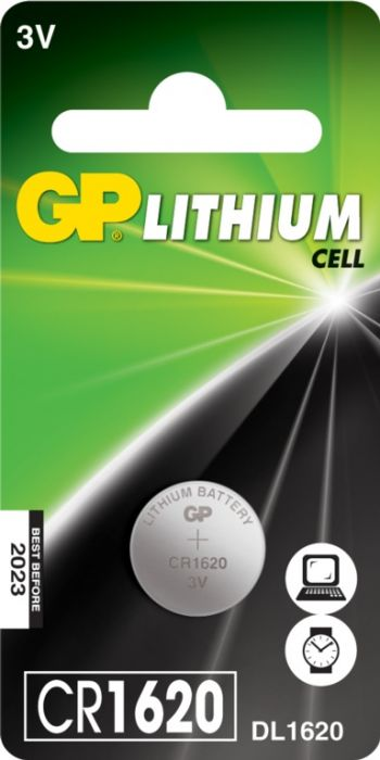 Gp Lithium Button Cell Battery Cr1620 Single