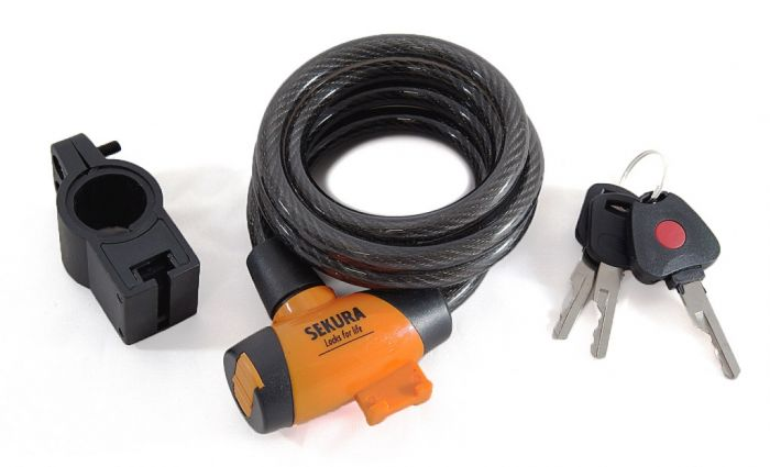 Sport Direct Cable Lock - Black 10Mm X 185Cm