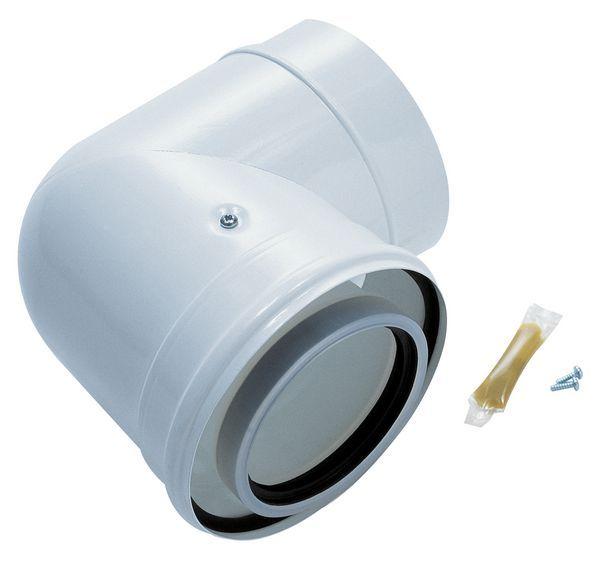 Bosch Worcester Greenstar Oilfit 90deg elbow 100/150mm