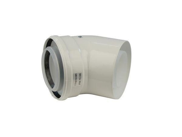 Bosch Worcester Greenstar 90deg high efficiency elbow 125mm White