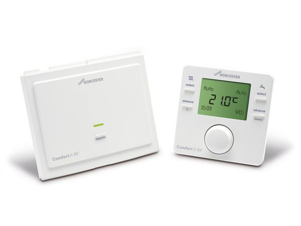Bosch Worcester Greenstar Comfort II radio frequency twin channel programmable thermostat