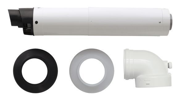 Intergas horizontal straight telescopic wall terminal