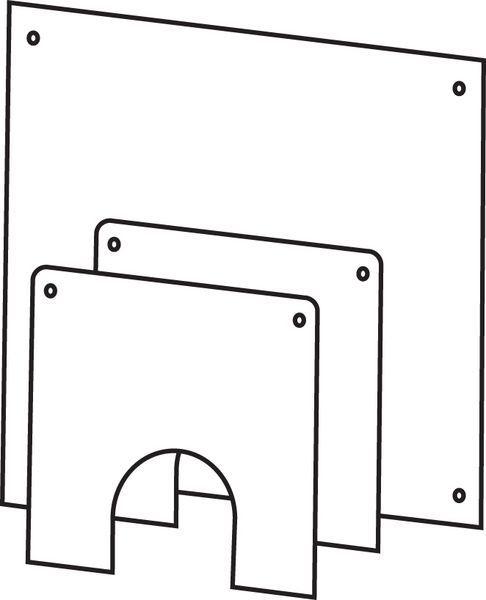 Bosch Worcester Greenstar Oilfit flexible wall cover plate 100mm