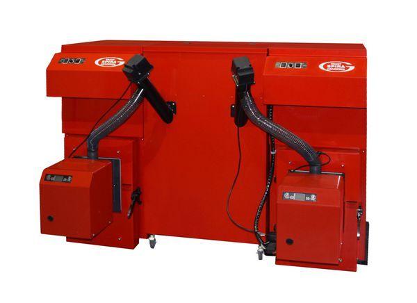Grant Spira wood pellet boiler double hopper auger 15/62kw