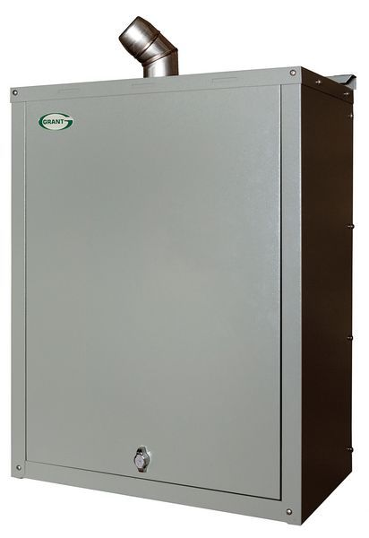 Grant Grant Vortex 12/16 ErP high efficiency external wall hung boiler including flue