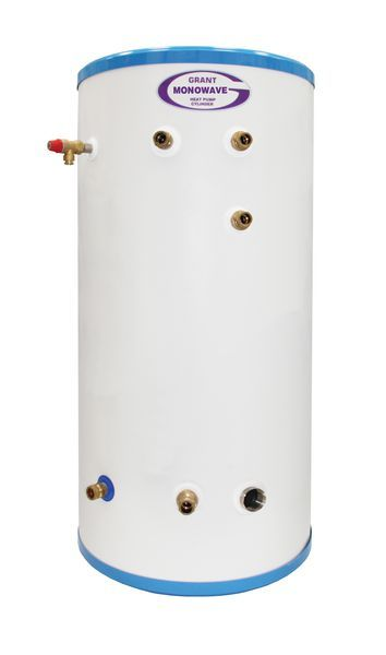 Grant MonoWave HPMONO/IND200 single coil indirectcylinder for 200l Stainless Steel
