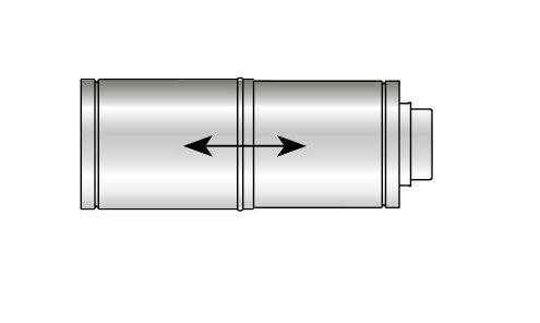 Grant high level adjustable balanced flue with bracket (for 12 26KW boilers)