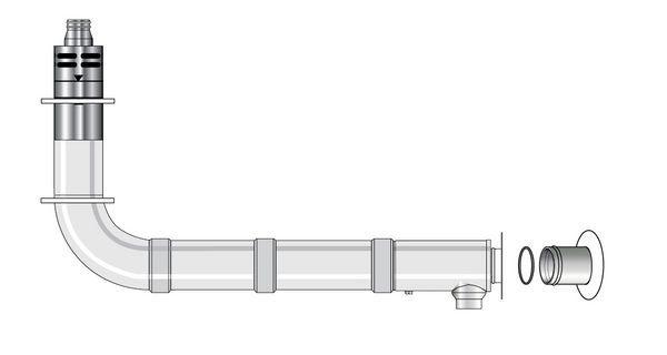 Grant high level balanced flue adjustable flue kit (for 26 70KW boilers) 1.2mtr