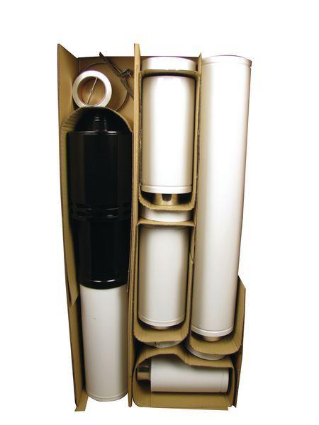 Grant adjustable vertical balanced flue kit 3mtr