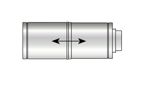 Grant high level vertical balanced flue adjustable extension (for 26 70KW boilers)