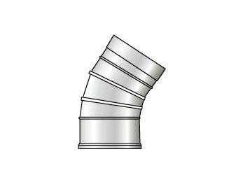 Grant 45deg eblow extension (for 46 70KW boilers) 125mm White