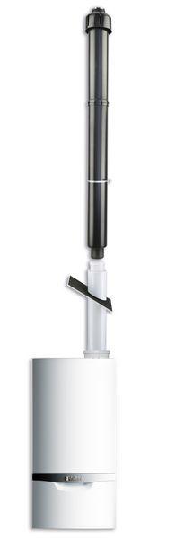Vaillant vertical terminal concentric 110/160mm Black