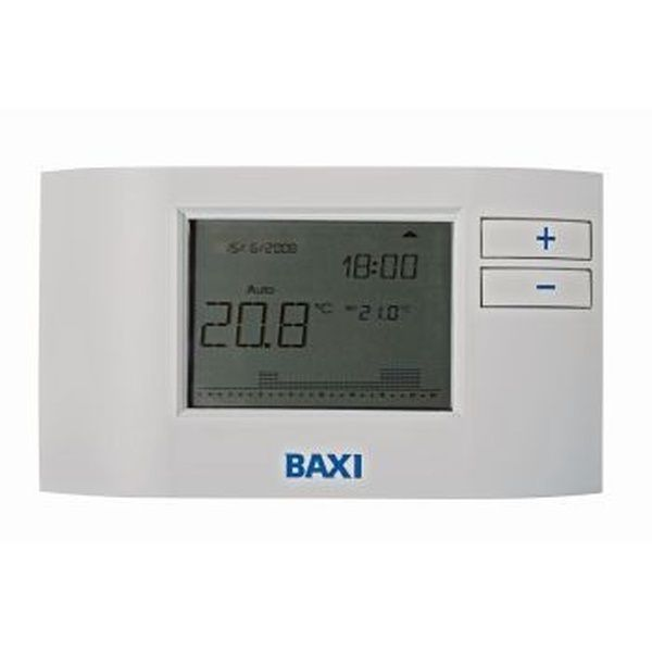 Baxi 7658789 plug in receiver 7 day programmable digital room thermostat