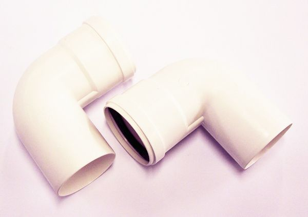 Baxi Multifit 90deg twin pipe flie bend 80mm (Pack of 2)