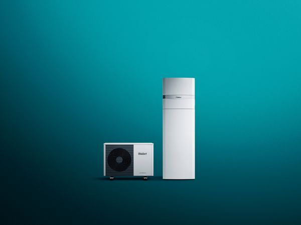 Vaillant aroTHERM PLUS air source heat pump and uniTOWER 7kW