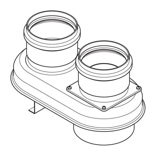 Baxi Multifit MK2 twin flue boiler adaptor