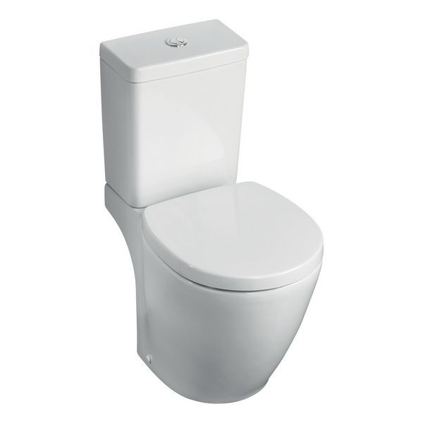 Vaillant Ideal Standard Concept Space E120501 close coupled horizontal outlet toilet pan White