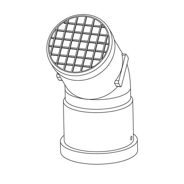 Ideal flue deflector kit 60mm