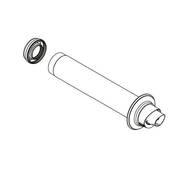 Ideal Logic rear flue kit (for Heat) 55/80mm