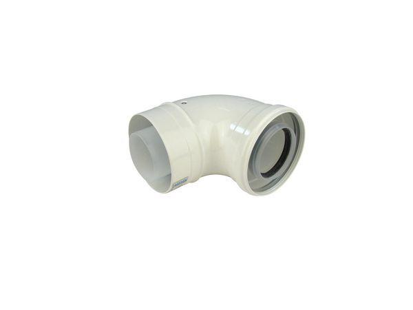 Ideal 90deg flue elbow kit