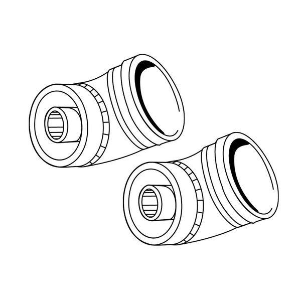 Caradon Ideal 45 deg flue elbow kit