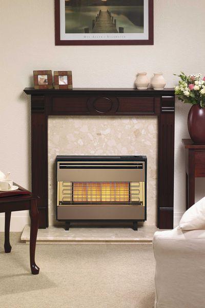 Dimplex Robinson Willey Firegem Visa natural gas fire Brown