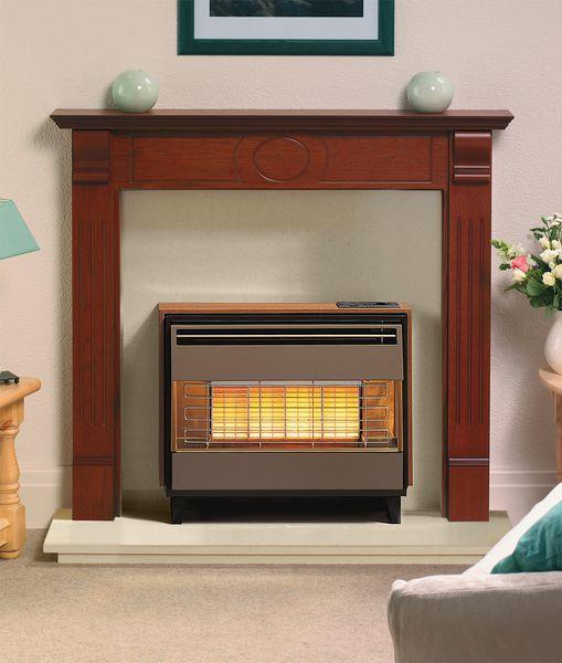 Dimplex Robinson Willey Firegem Visa deluxe natural gas fire Teak