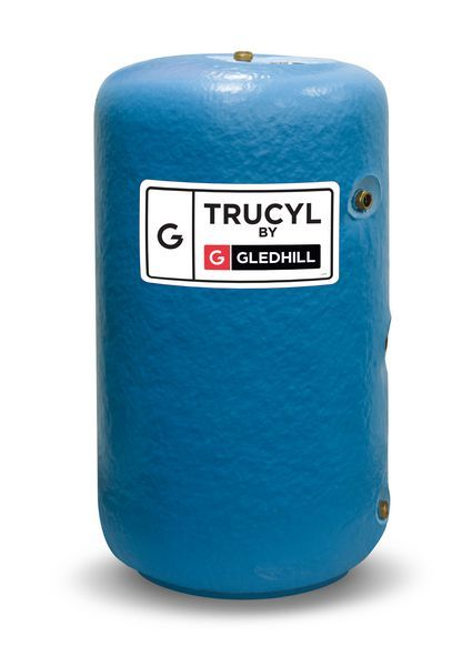 Gledhill TruCyl indirect vented cylinder including immersion heater 1050 x 450mm