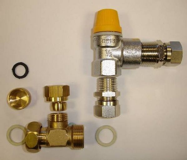 Vaillant pressure relief valve mounting kit