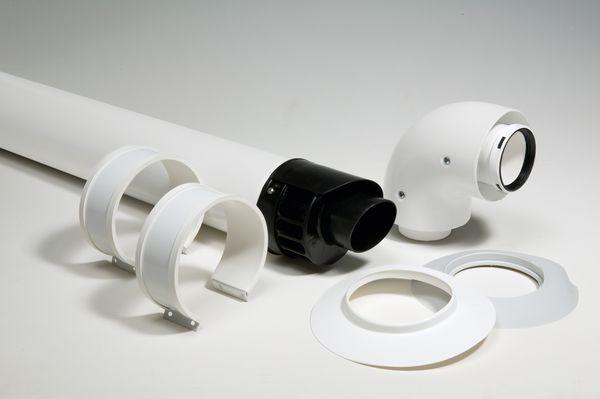 Vokera fixed length horizontal flue kit 60/100mm