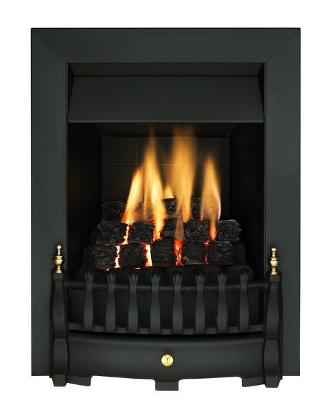 Valor Blenheim Slimline gas fire Black