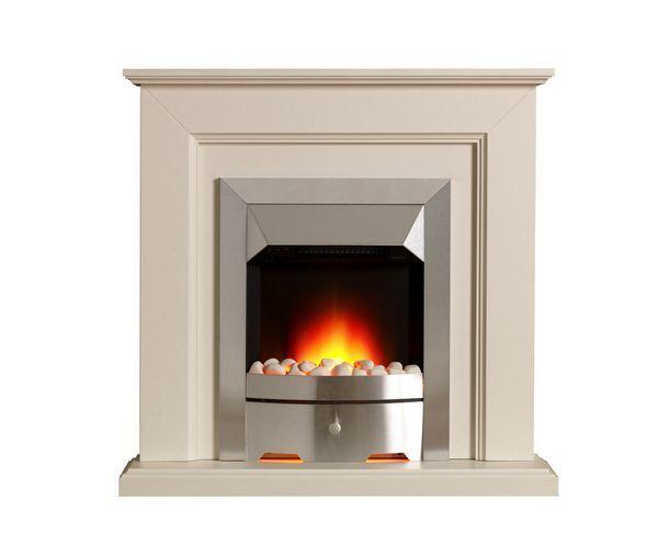 Valor Carlton EcoLite fire suite stone Chrome
