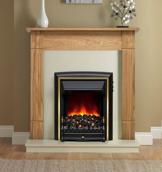 Bemodern Be Modern Darras Eco electric fire suite 42 Natural Oak/Marfil