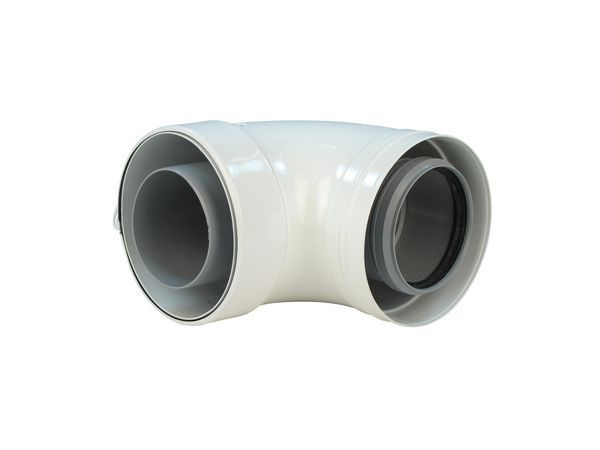 Baxi 87degree flue elbow 80/125mm