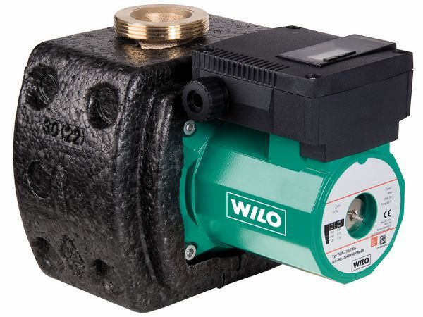Wilo Top Z30/7 3-phase hot water bare pump Bronze