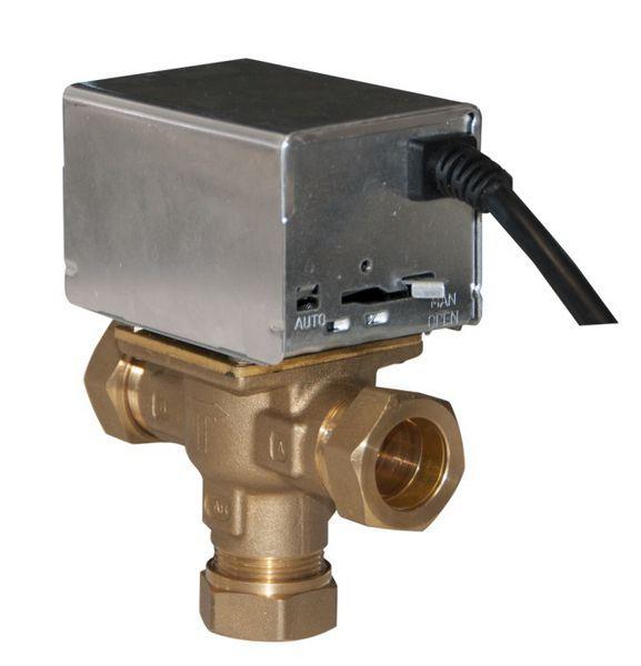 Neomitis 3-port mid position valve 22mm